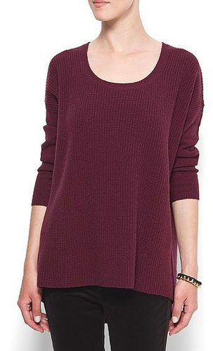 Oversize ribbed jumper