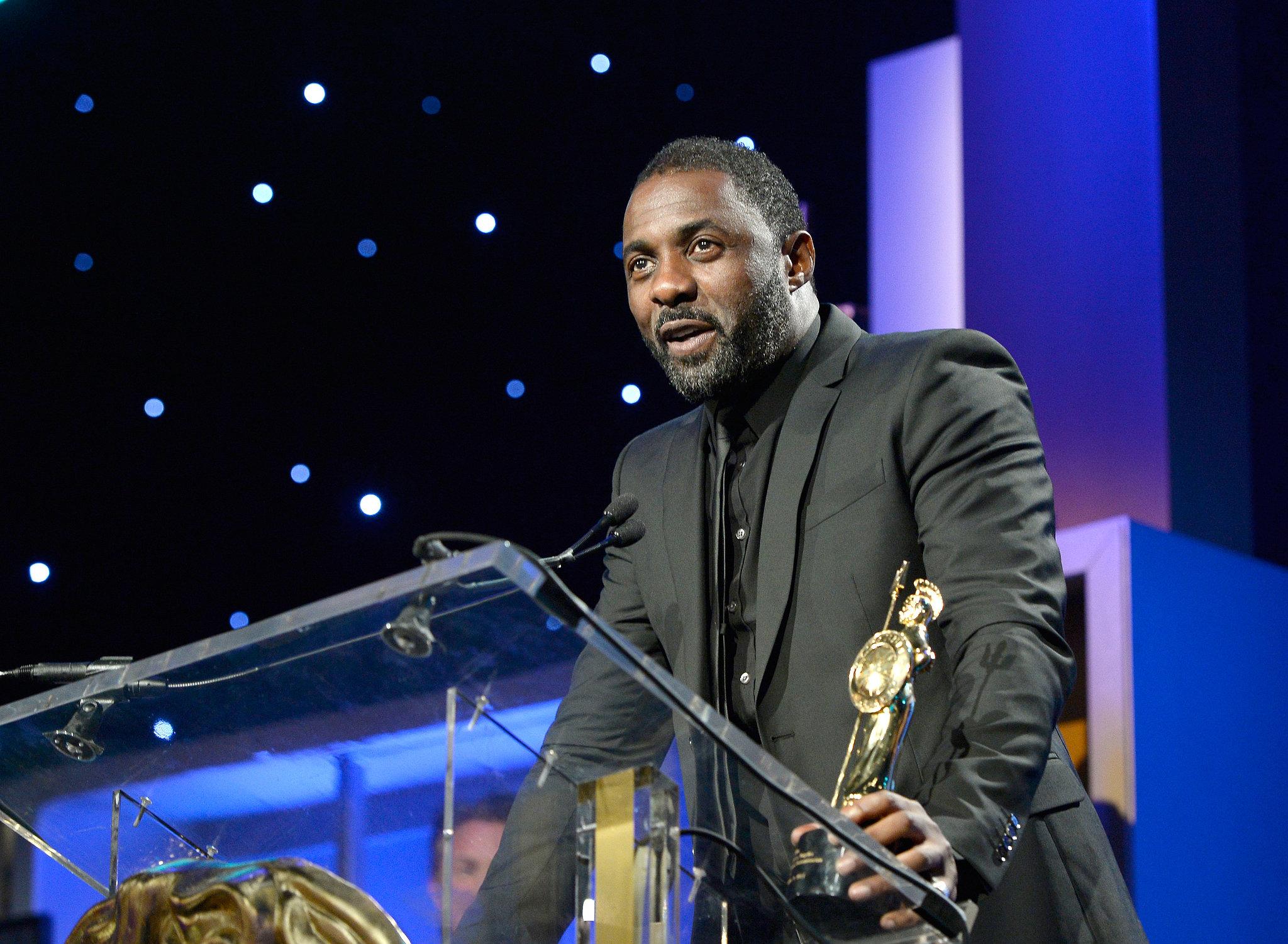 Idris Elba accepted his Britannia humanitarian award during the ceremony.