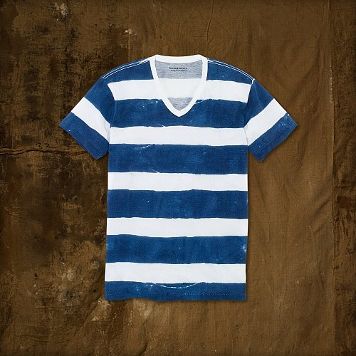 Denim & Supply Watercolor Striped Tee