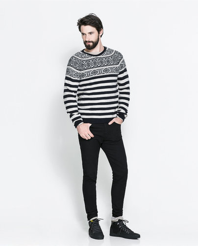 Combined Jacquard Sweater