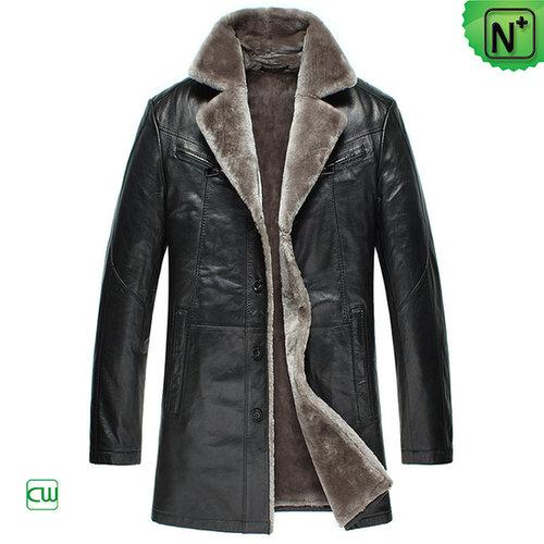 Mens Sheepskin Trench Coat CW877178