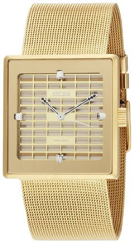 EOS New York Women's 303SGLD Petra Stainless Steel Mesh Gold Watch