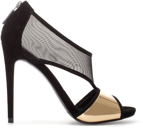 High Heel Sandal With Mesh