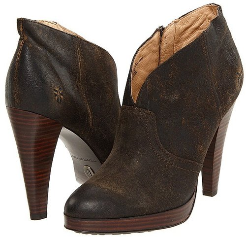 Frye - Harlow Campus Bootie (Tan Vintage Distressed Leather) - Footwear