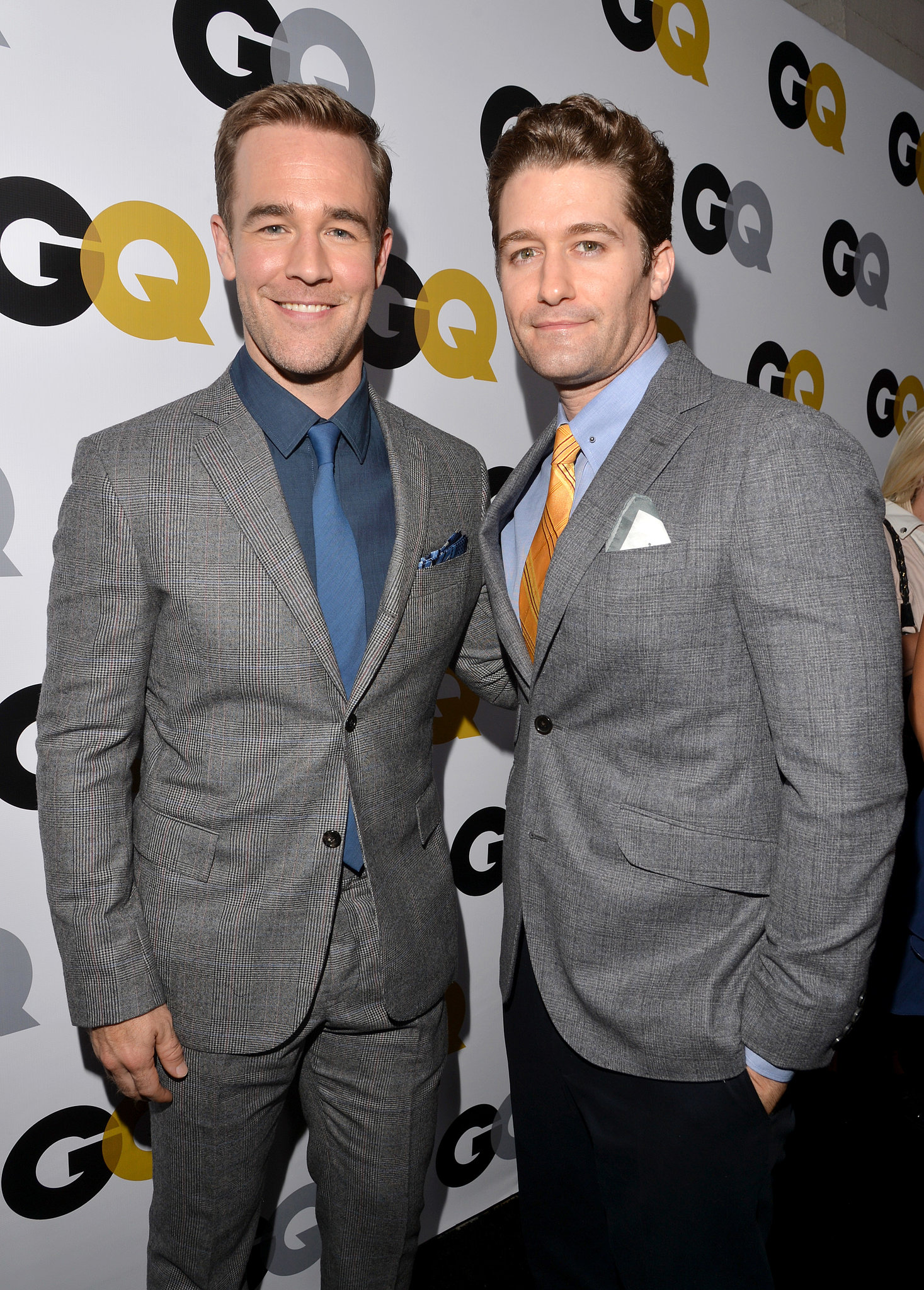 James Van Der Beek posed with Matthew Morrison at the GQ Men of the Year party.