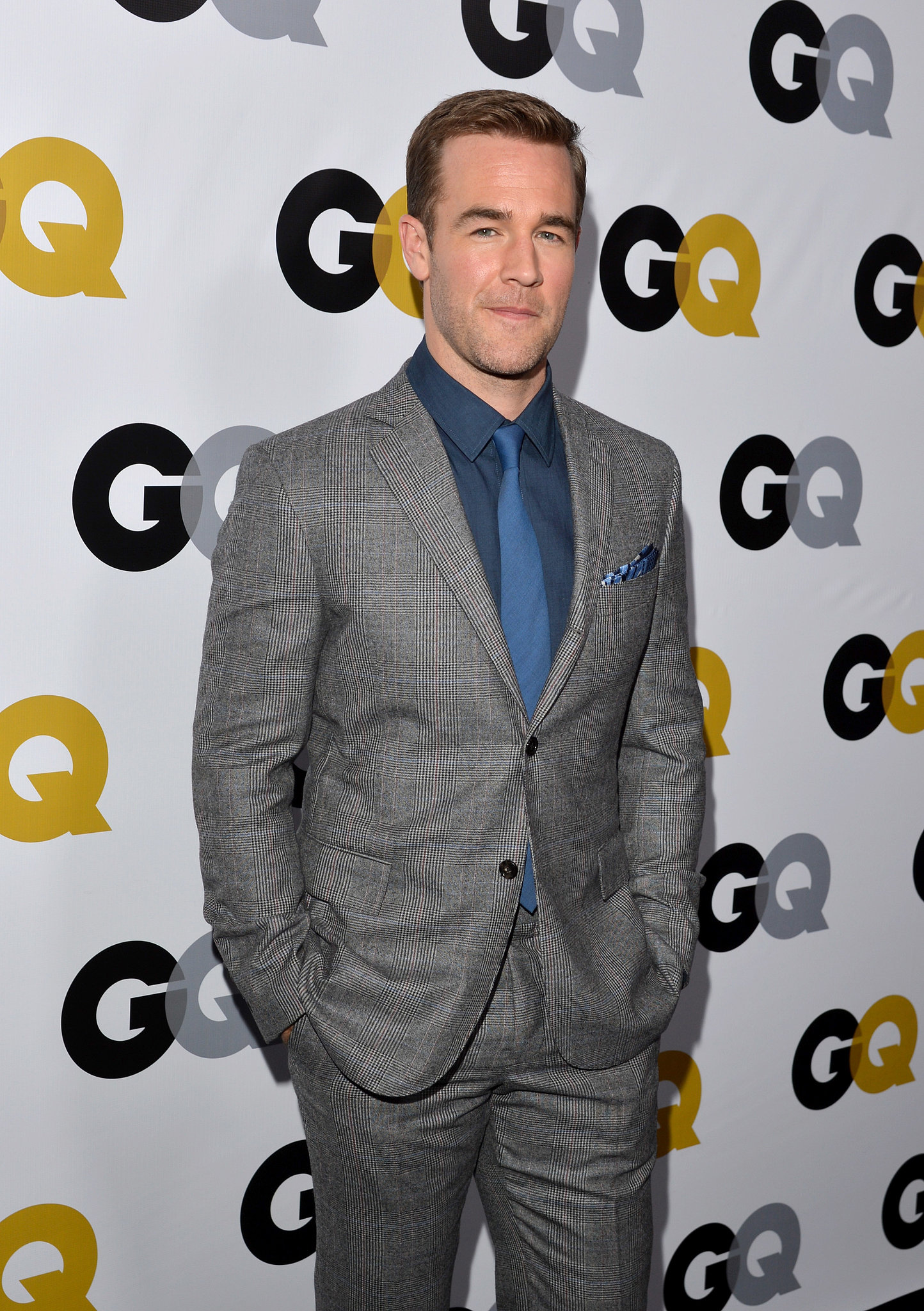 James Van Der Beek suited up the event.