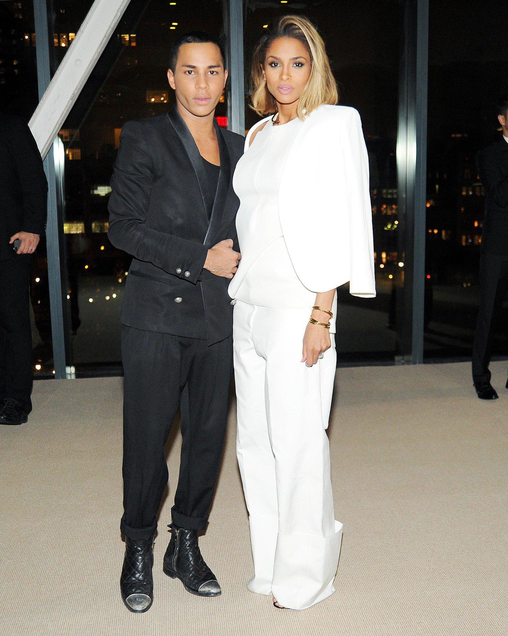Balmain designer Olivier Rousteing and Ciara