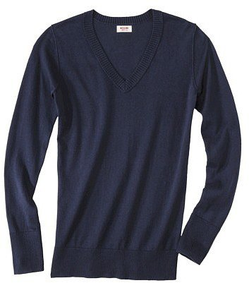 Mossimo Supply Co. Juniors Long Sleeve V Neck Sweater - Assorted Colors