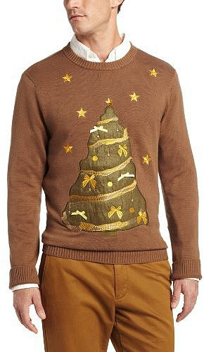 Alex Stevens Men's Tacky Tree Ugly Christmas Sweater