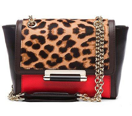 Diane von Furstenberg 440 Mini Leopard Haircalf Bag in Leopard ($350)