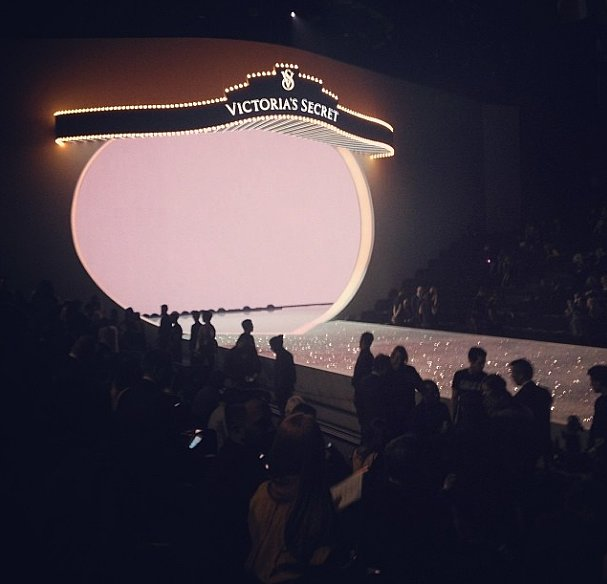 The stage is set. Now bring on the models! Source: Instagram user huffpoststyle