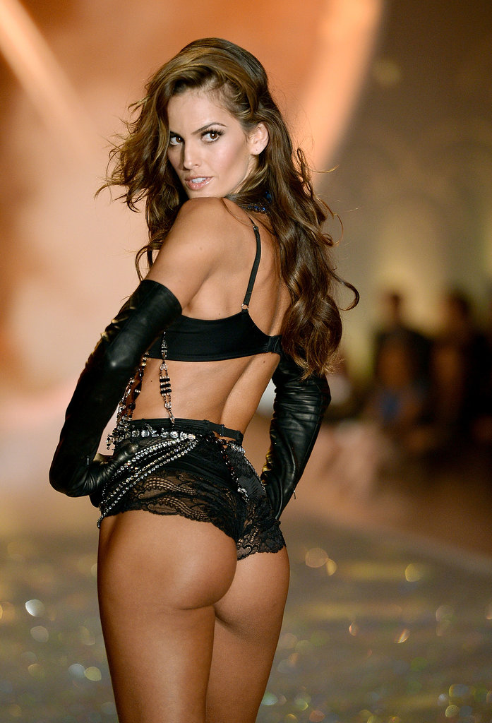 Izabel Goulart wore a revealing lacy ensemble in 2013.