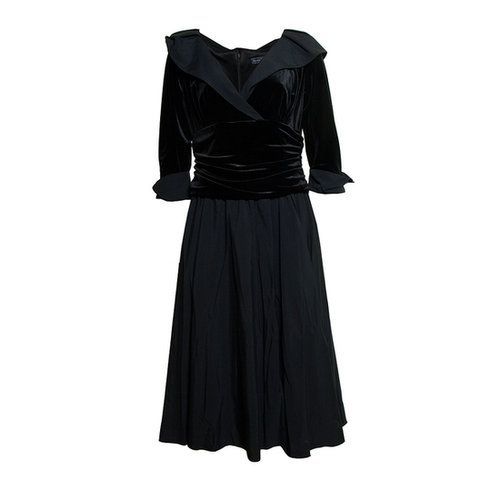 Jessica Howard Black Velvet Dress