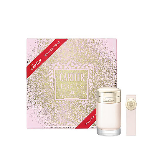 French luxe is all hers with the Cartier Baiser Volé gift set ($145). Includes the powdery-floral fragrance and a mini version of the scent.