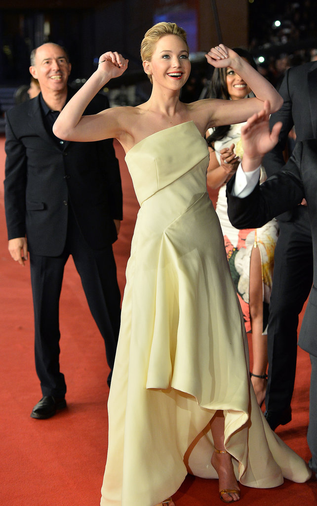 Jennifer Lawrence was adorably excited at the premiere in Rome.
