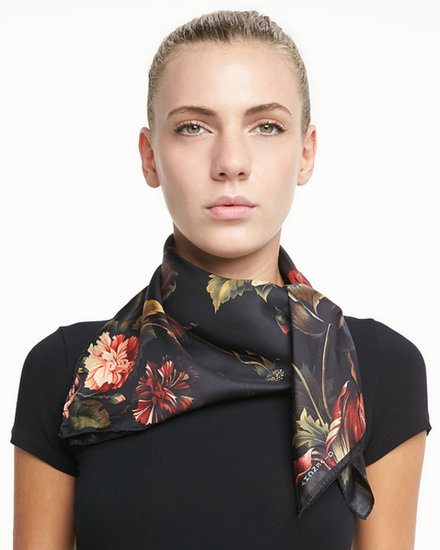 Givenchy Floral-Print Silk Twill Square Scarf