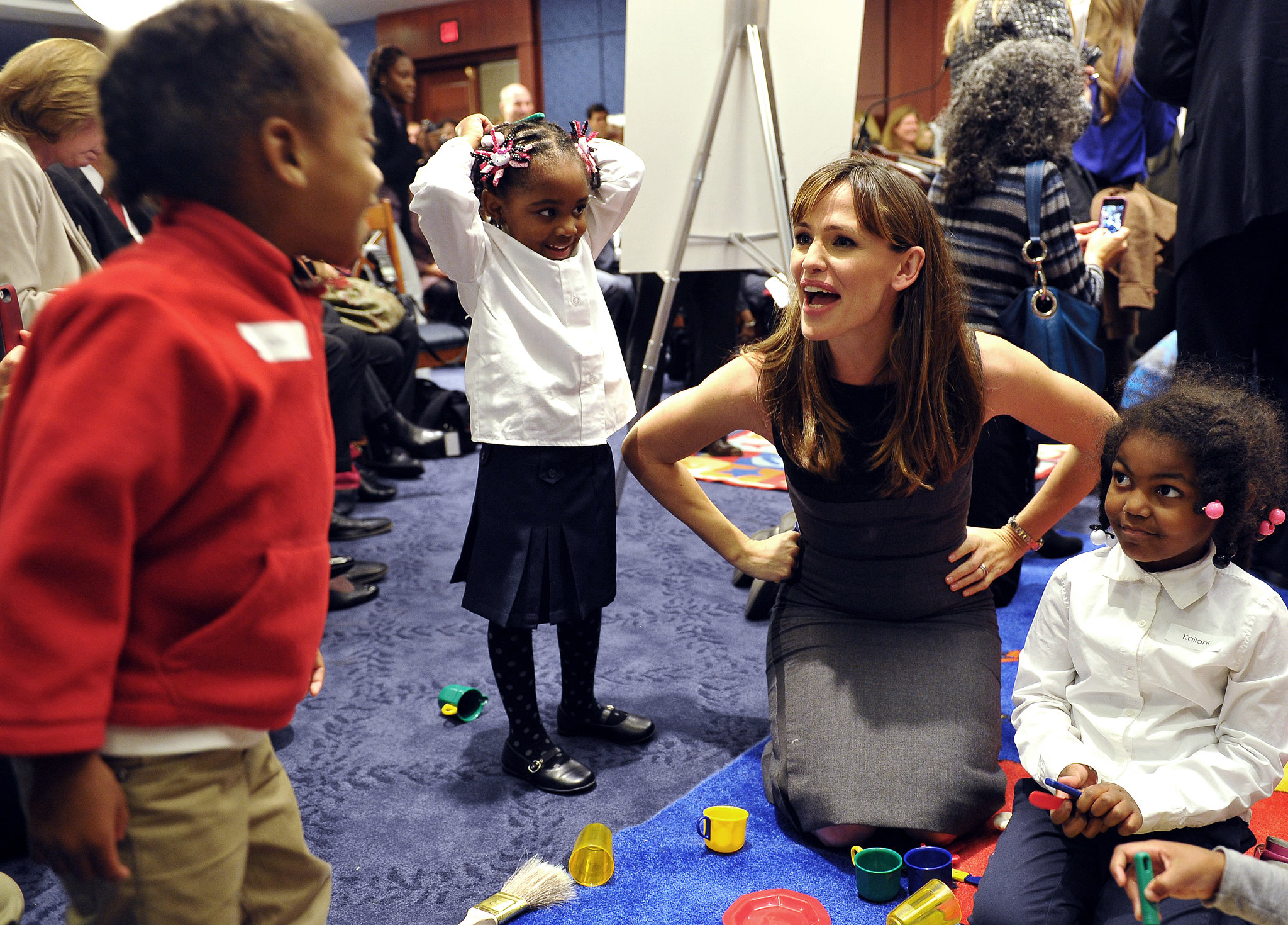 Jennifer Garner pushed for more early-education opportunities as the Save the Children artist ambassador during a trip to Washington DC.