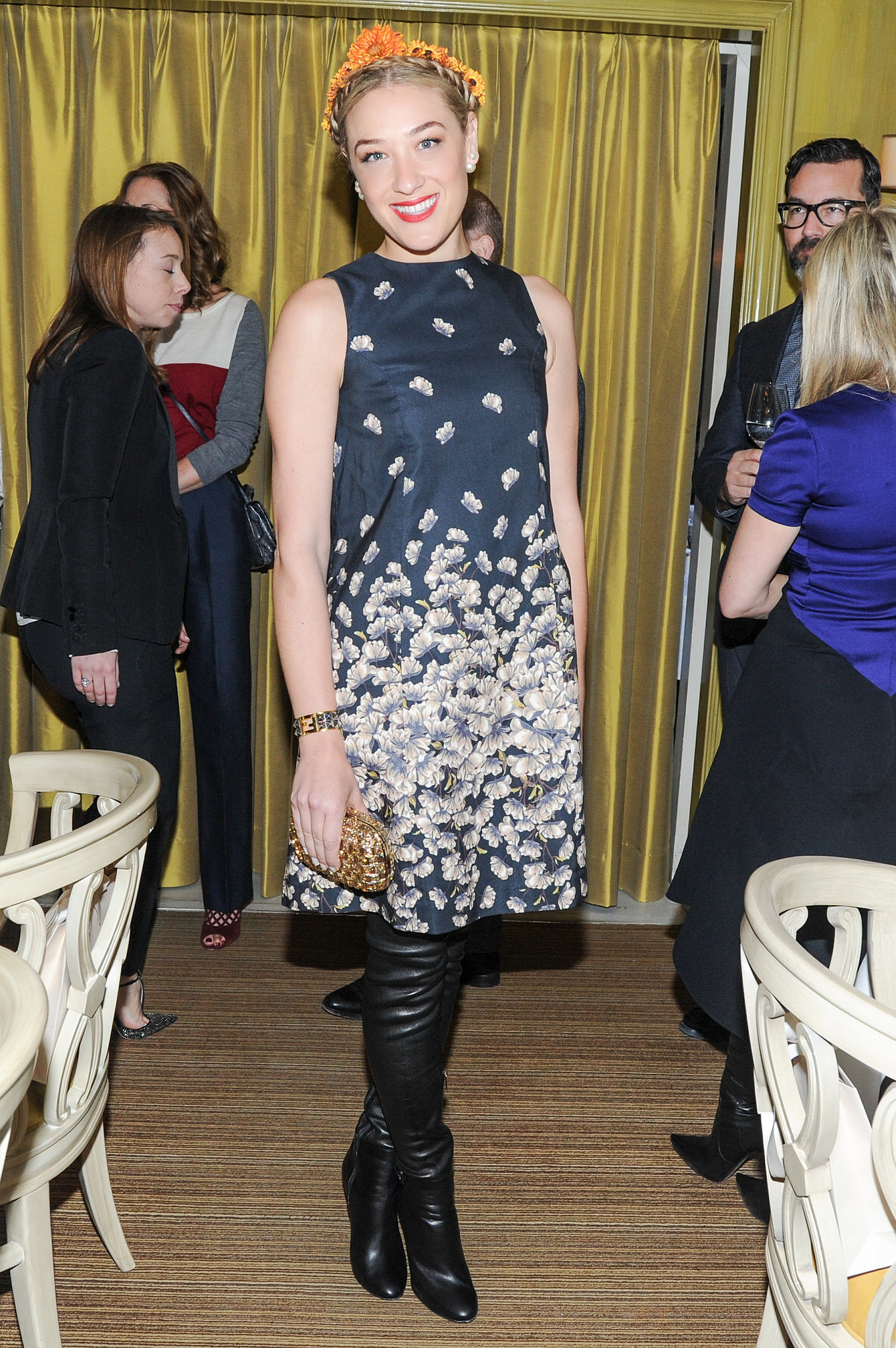 Mia Moretti at Bergdorf Goodman's Jimmy Choo event.