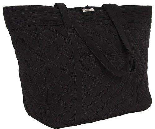 Vera Bradley - Large Laptop Tote (Black) - Bags and Luggage