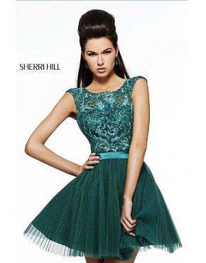 Sherri Hill 21167 Homecoming Dresses Jungle Green