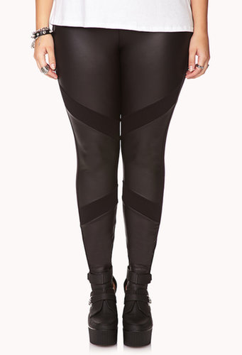 FOREVER 21+ Bombshell Faux Leather Leggings