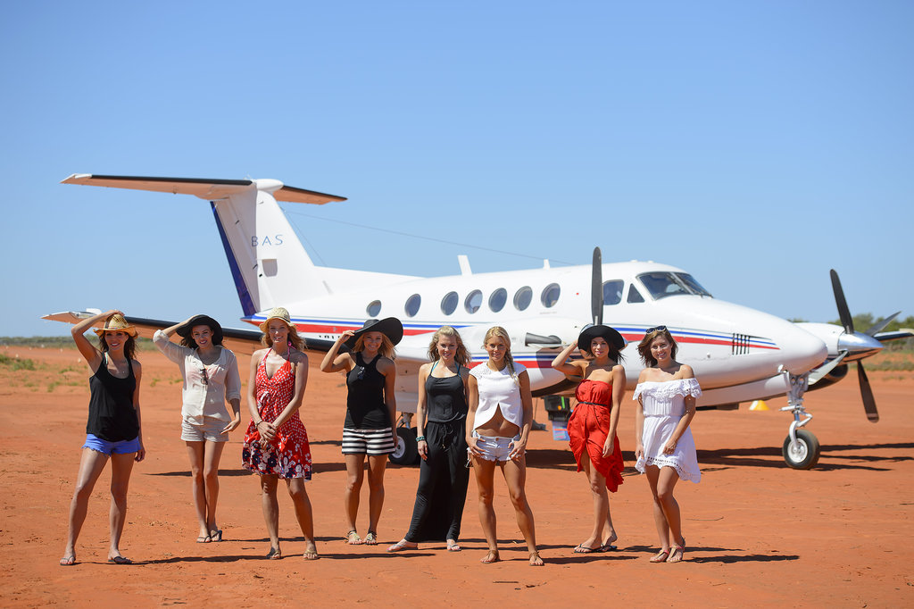 The top eight girls were whisked away to Broome.