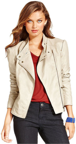 Jessica Simpson Jacket, Trey Faux-Leather Quilted Moto
