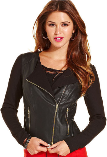 XOXO Mixed-Media Moto Jacket