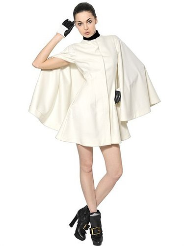 Light Wool Felt Cape Coat