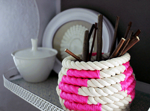 Neon Rope Basket