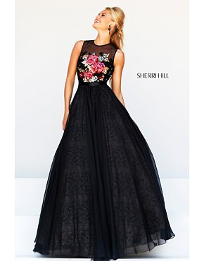 2014 Sherri Hill 21313 Evening Gown Black
