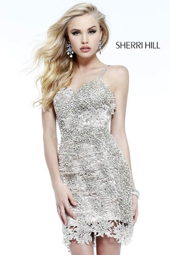 2013 Sherri Hill 9808 Nude Homecoming Dresses
