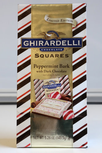 Ghirardelli Squares Peppermint Bark With Dark Chocolate