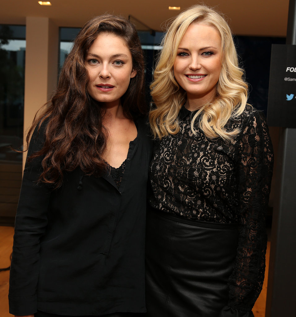 Photo of Alexa Davalos & her friend actress  Malin Akerman - Los Angeles