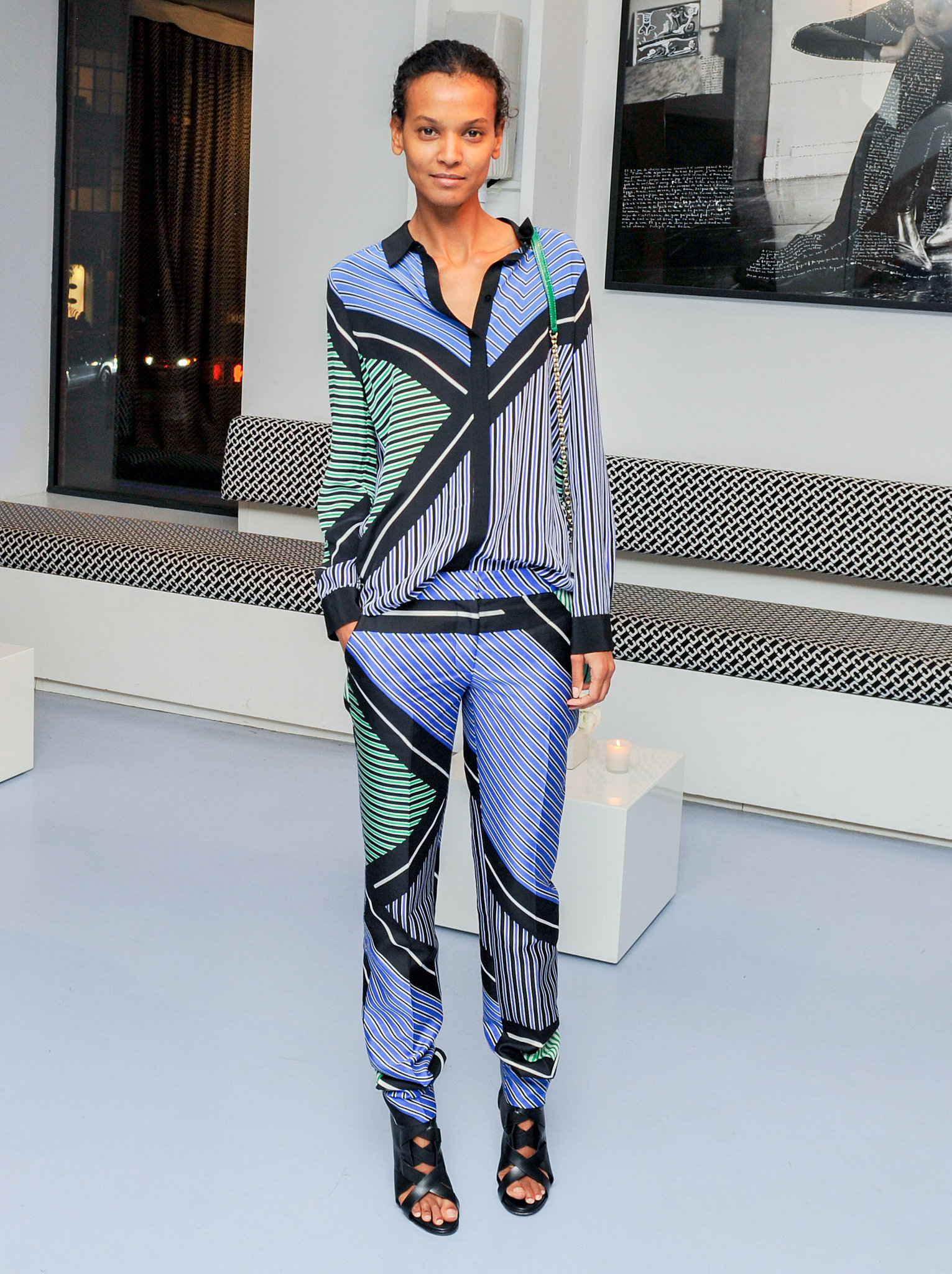 Liya Kebede in Diane von Furstenberg at the Bornfree campaign press announcement.