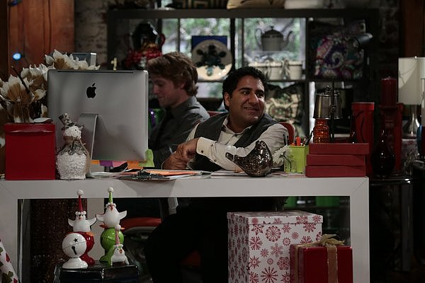 Sean Saves the World Jerry (Parvesh Cheena) on the holiday episode of Sean Saves the World.