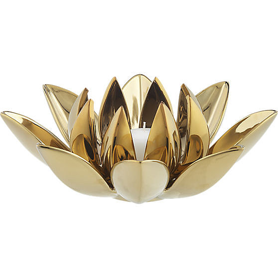 I'm obsessed with all things gold for home this season, and this dahlia candleholder ($20) by CB2 is an inexpensive way to gild the coffee table. It might even fit in a stocking! — Shannon Vestal, TV and movies editor