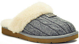 UGG Australia - Cozy Knit - Grey Knit Shearling Lined Slipper