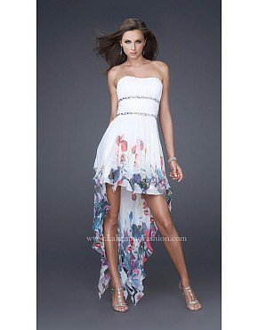 La Femme 16289 White Dresses for Homecoming