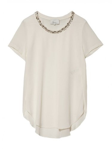 3.1 Phillip Lim Embellished Neck Tee