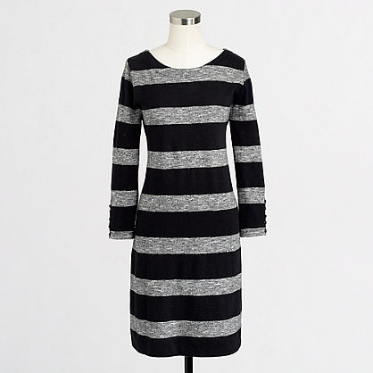 Factory stripe boatneck dress