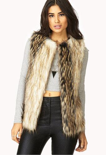 FOREVER 21 Standout Faux Fur Vest