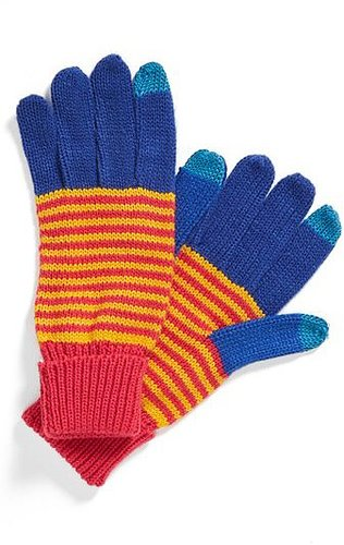 The Accessory Collective Stripe Texting Gloves (Girls)