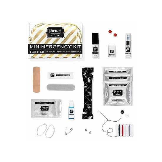 Have a jet-setting friend? Send her packing with Pinch Provisions's Candy Striper Miniemergency Kit ($15) to ensure her holiday travel goes smoothly.