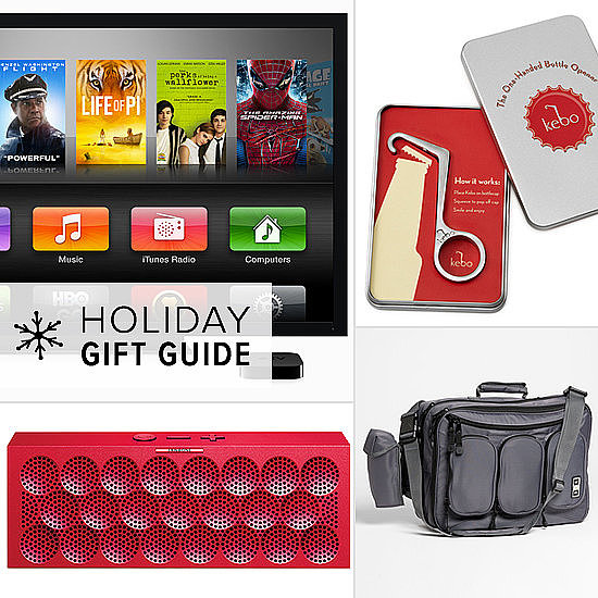 Moms tend to have most of the fun when it comes to baby gifts, so get dad in on the action this season with a dad-friendly gift designed to please. From one-handed bottle openers (that's a beer bottle, FYI) to daddy-and-me tees, from the latest tech toys to a manly diaper bag, these gifts will make his new-dad life easier, more stylish, and more fun!