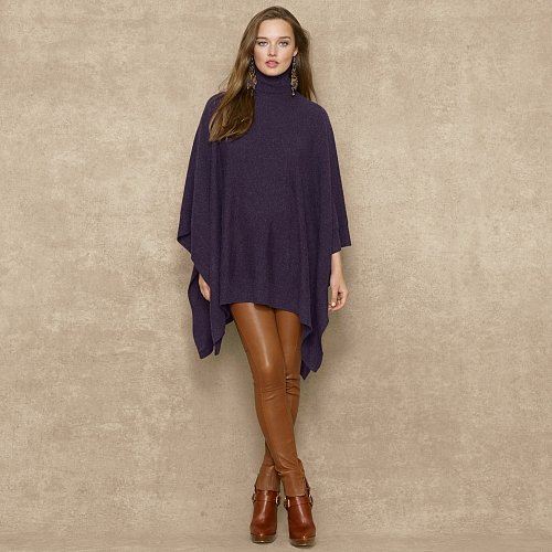 Ralph Lauren Blue Label Cashmere Turtleneck Poncho