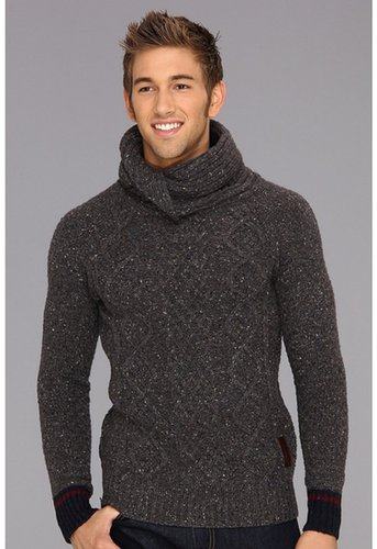 Scotch & Soda - Twisted Shawl Yarn Pullover (Charcoal Melange) - Apparel