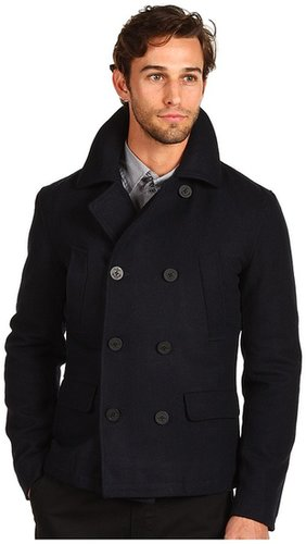 Shades of Grey - Melton Wool Peacoat (Navy Melton) - Apparel