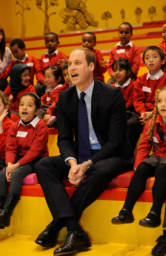 The Duke of Cambridge visited Birmingham, England, stopping by the library where he met with kids.