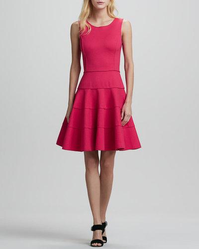 Halston Heritage Sleeveless Ponte Fit-and-Flare Dress